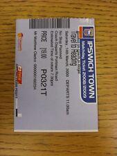 14/03/2009 Ticket: Reading v Ipswich Town [Ipswich Town Coach Travel Ticket To R