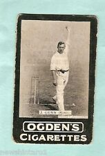 AUSTRALIAN OGDENS CRICKET CIGARETTE CARD 1901 - #10  J. GUNN