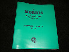 MORRIS LCF & lcfo ORIGINAL FACTORY MANTENIMIENTO LISTA DE PIEZAS JULIO 1963 3º
