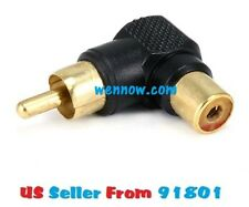 3pc RCA Plug to RCA Jack Adaptor - Gold Plated ( Right Angle )