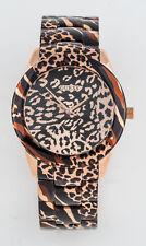 GUESS Edelstahl Damen Uhr Leopardenmuster NEU VIXEN W0425L3 G1
