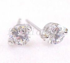Pear White Gold Simulated Costume Earrings