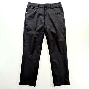 PUMA Mens Black Straight GOLF Pants Size 32 X 30
