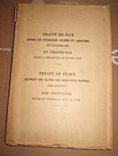(1919) Treaty of Peace , Versaille  PARIS WWI w/ 4 maps. GERMANY Punishment RARE