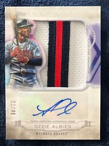 2019 Topps Inception Ozzie Albies Jumbo Patch Auto /40 Braves