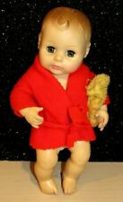 "Vintage Horsman 1982  Baby Boy Doll Molded Hair Drink and Wet 11""ADORABLE GUC"