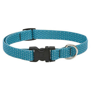 36301 Eco Dog Collar, Adjustable, Tropical Sea, 3/4 x 9 to 14-In. - Quantity 1