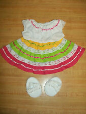 "16"" CPK Cabbage Patch Kids PINK + LIME  MEXICAN FIESTA PARTY DRESS CINCO DE MAYO"