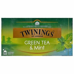 Twinings Naturally Blended Green Tea With Peppermint ,25 Teabags, Pack Of 1