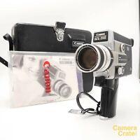 Canon 518 SV Auto Zoom Super 8 Cine Film Camera & Case - Fully Working #S8-3010