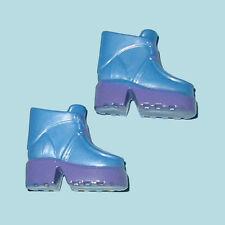 Blue&Purple~MARY-KATE ASHLEY DOLL BOOTS~FLAT FEET Shoes fit:Tall/Curvy/Skipper