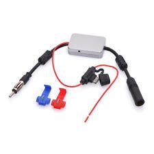DAB car radio 88-108Mhz Signal Amplifier Car Antenna Radio Booster 12V; Silver
