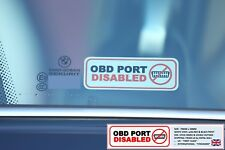 2 x OBD PORT DISABLED WINDOW STICKERS  AUTOWATCH GHOST PROTECTOR CLIFFORD
