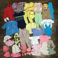 Vintage Children's & Doll Clothing Lot 30+ items Sweaters, Outfits, Rompers