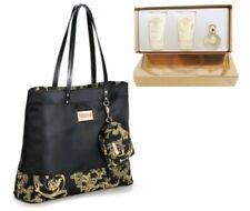 VERSACE BLACK WOMEN'S BAG DETACHABLE PURSE and  eros pour femme travel gift set