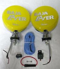 """5"""" Off Road Baja Chrome H3 100w Lights with Wiring & Switch Kit PAIR Yellow"""