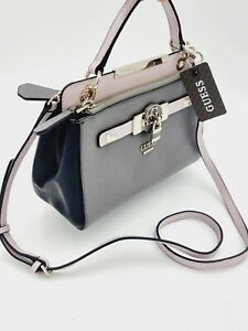 GUESS Cynthia Satchel Smoke Multi Hand Shoulder Bag New With Tags RRP $189