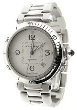 Mint Mens Cartier Pasha 2378 Automatic Stainless Steel 38mm Date Watch
