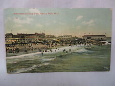 VINTAGE POSTCARD BEACH VIEW FROM FISHING PIER AT ASBURY PARK NEW JERSEY 1908