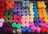 Mixed DK Wool Yarn Job Lot Knitting Crochet Squares Pompom Crafts Toys Bundle DK