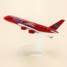 16cm Plane Model Red Air Malaysia Airlines Airbus 380 A380 Airplane Model Toy