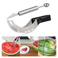 OUNONA Watermelon Stainless Steel Slicer Server Knife Cutter Corer Scoop Tool