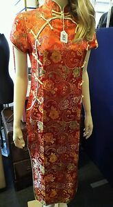 Vintage traditional Chinese embroidered dress cheongsam dress