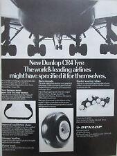 5/1975 PUB DUNLOP AVIATION CR4 AIRCRAFT TYRE PNEU AVION ORIGINAL AD