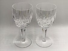 2 Waterford KILDARE Crystal Water Goblet Glasses  7""