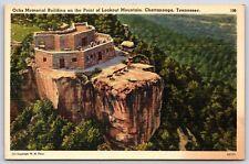 Ochs Memorial Building Lookout Mountain Chattanooga, Tennessee Linen Postcard