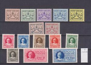 Vatikan 1929, Mi-Nr. 1-15, einwandfrei postfrisch, Michel 240€