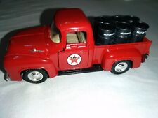 Road Champs 1956 Ford F-100 Texaco Pickup Truck with Oil Barrels