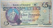 NORTH IRELAND  £5 Pounds 2008          P-83          Bank of Ireland - Belfast