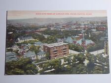 1912 POSTCARD OF A BIRDS EYE VIEW OF LINCOLN NEBRASKA FROM CAPITOL DOME