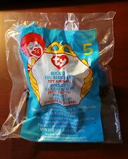 "MC DONALDS HAPPY MEAL TOY 99 #5 TY Teenie Beanie Baby ""Rocket the Blue Jay"" NIP"