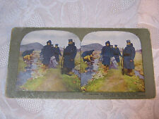 JAPANESE SOLDIERS RETIRING FROM A FORAGE STEREOVIEW CARD  ANTIQUE    T*