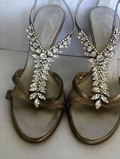 giuseppe zanotti shoes sandals Swarovski crystals very special size 37 SALE !