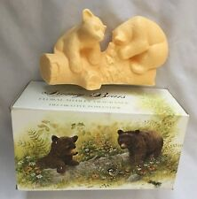 "AVON 7"" Potpourri Yellow HONEY BEARS FLORAL MEDLEY Pomander Figurine"