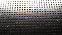 VINTAGE  SHEET ALUMINIUM PERFORATED MESH 314mm x 98mm black RADIO REPTILE INSECT
