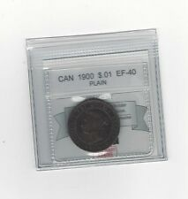 **1900 Plain**, Coin Mart Graded Canadian, Large One Cent, **EF-40**