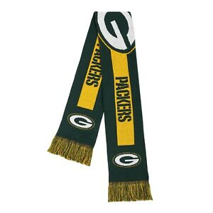 GREEN BAY PACKERS (FOREVER COLLECTIBLES) NFL ADULT SCARF GREEN FAST FREE SHIP