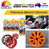 4 x Bright Orange PREMIUM Wheel Rim Rubber Spray Color Paint Coat Car Plasti Dip