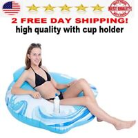 Inflatable Pool Lounger Float for Swimming Party river tube man lake NEW BEST