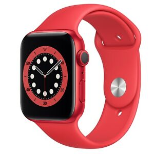 NEW APPLE Watch Series 6 32GB Red Aluminium Case With Red Sports Band 44mm GPS