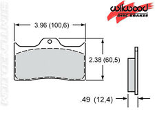 Wilwood 150-8850K Smart Disc Brake Pads BP-10 Front Axle Brake Pads