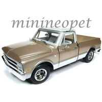 AUTOWORLD AMM1165 1968 CHEVROLET C-10 FLEET SIDE PICK UP TRUCK 1/18 DIECAST GOLD