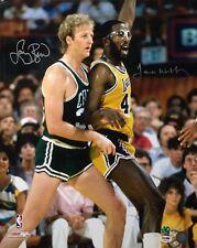 Larry Bird & James Worthy Signed 16x20 Basketball Photo PSA 4A36646