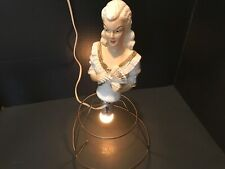 Vintage Marilyn Monroe Head Bust doll  table Lamp Wood? Very detailed