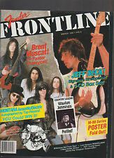 Fender Frontline Winter 1992 Magazine Waylon Jennings Jeff Beck Brent Muscat