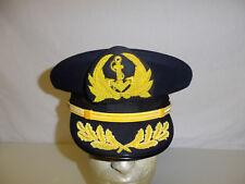 b9569-7 Vietnam RVN Navy Captain Dai Ta Visor Hat Blue Size 7 R23F